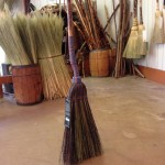 Long plait kitchen broom