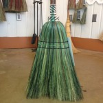 Detail of kitchen broom - note the color is carried through the plait